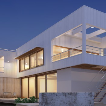3d rendering of the home in the open air.